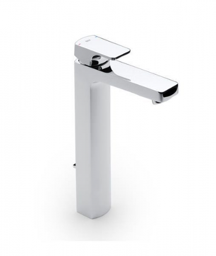 Roca L90 Extended Basin Mixer Tap With Pop-Up Waste - Chrome